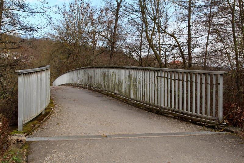 Puentes hermosos para los peatones en el parque imagen de archivo libre de regalías