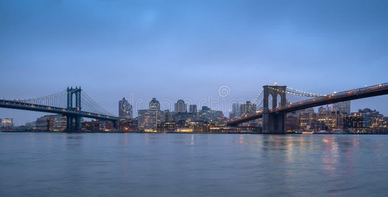 Puentes majestuosos de NYC imagen de archivo