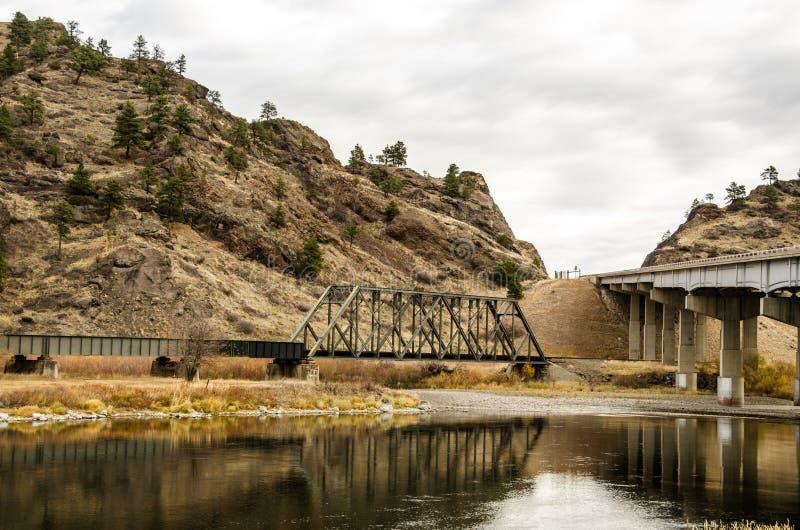 Puentes sobre el Missouri imagen de archivo libre de regalías