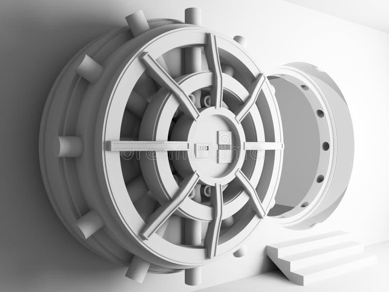 Puerta 3d de la cámara acorazada de batería stock de ilustración