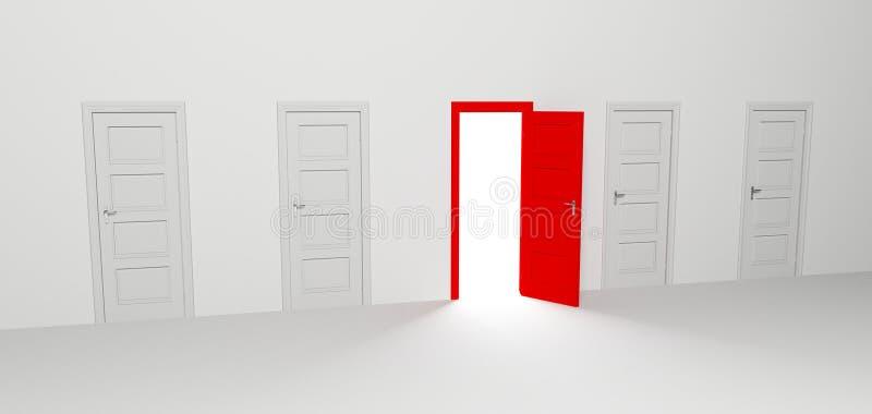 Puerta abierta libre illustration