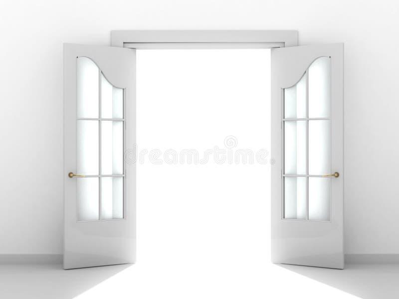 Puerta abierta stock de ilustración