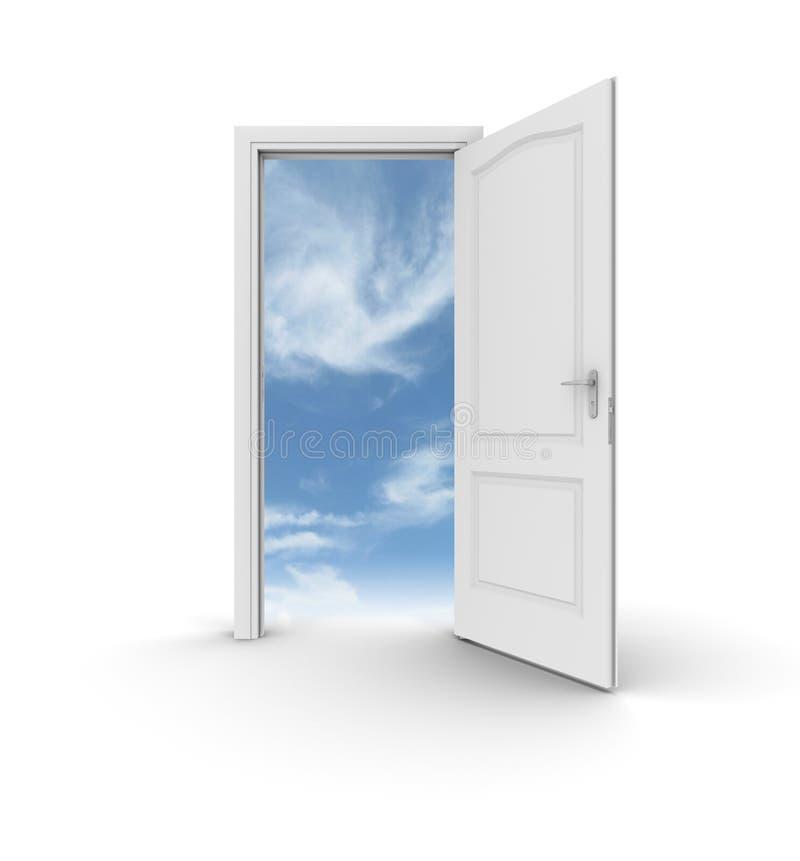 Puerta abierta al cielo libre illustration