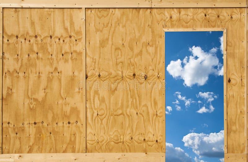 Puerta abierta al cielo foto de archivo