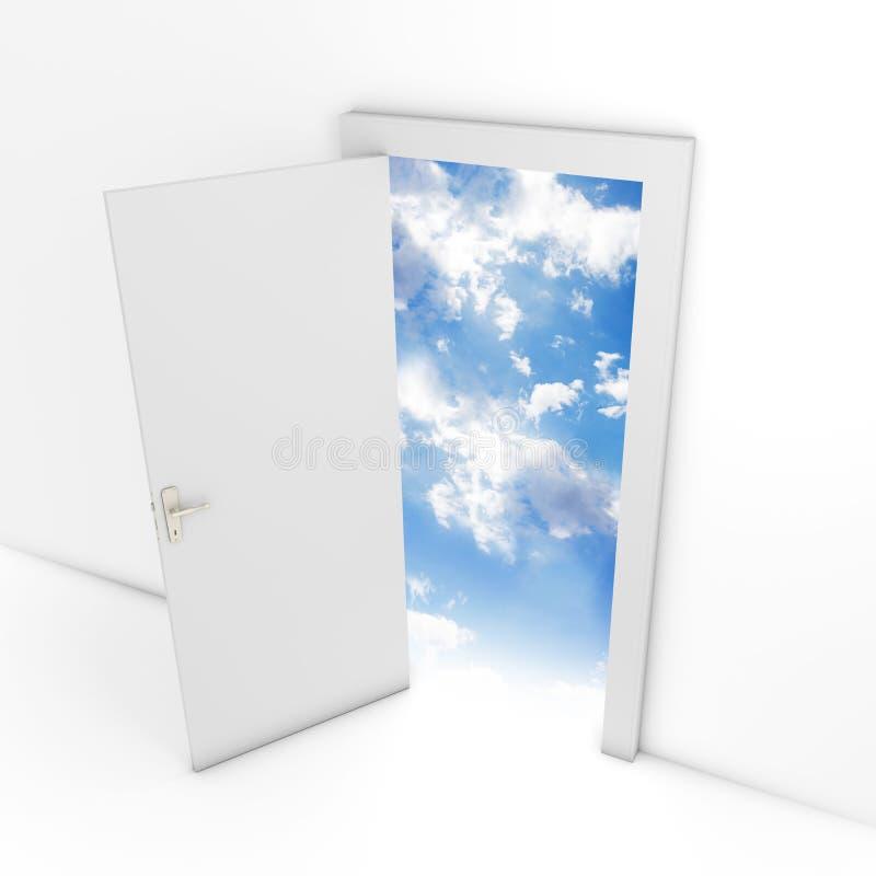 Puerta abierta que lleva al cielo fotografía de archivo libre de regalías