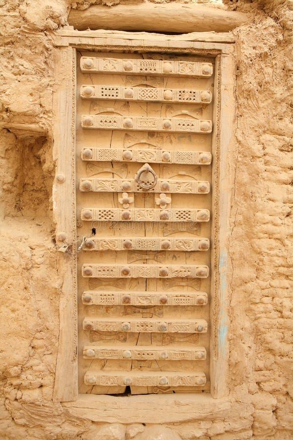 Puerta adornada de Yemen foto de archivo libre de regalías