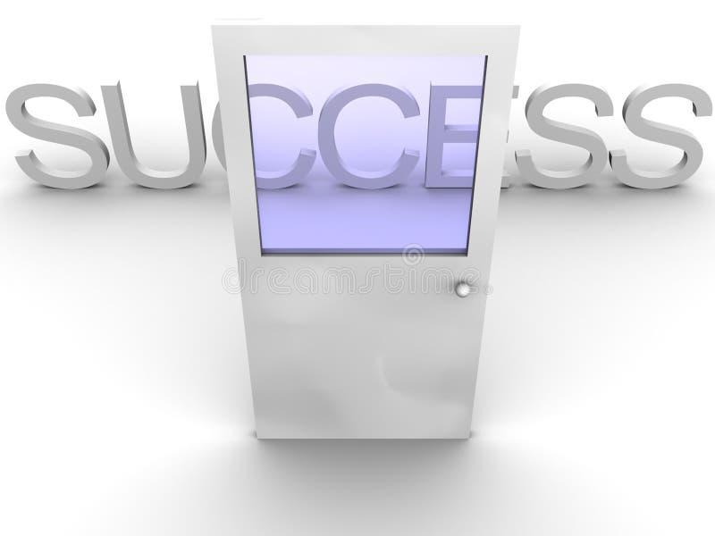 Puerta al éxito stock de ilustración