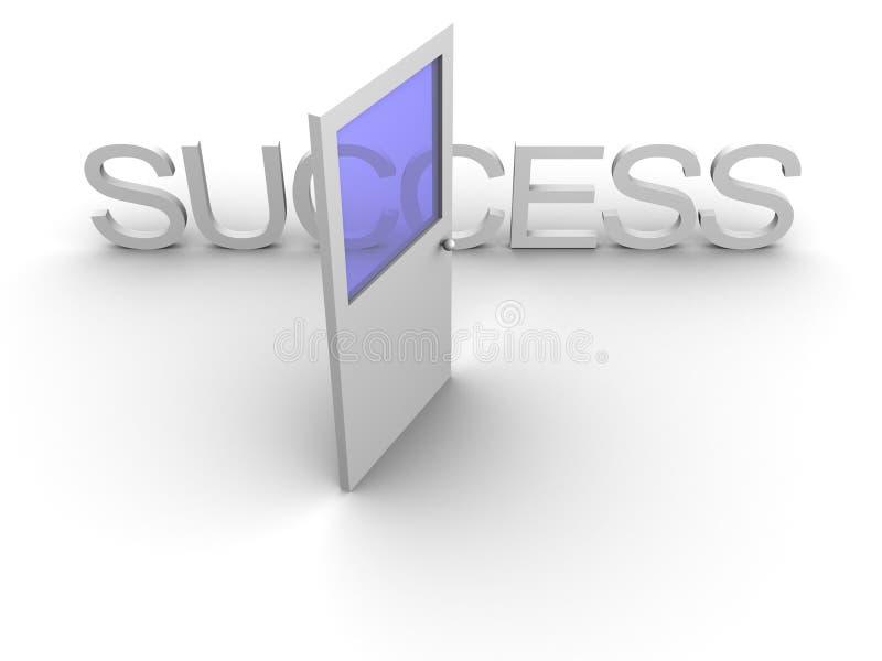 Puerta al éxito abierto ilustración del vector