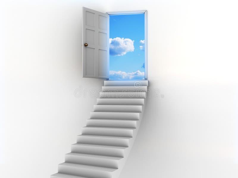 Puerta al cielo stock de ilustración