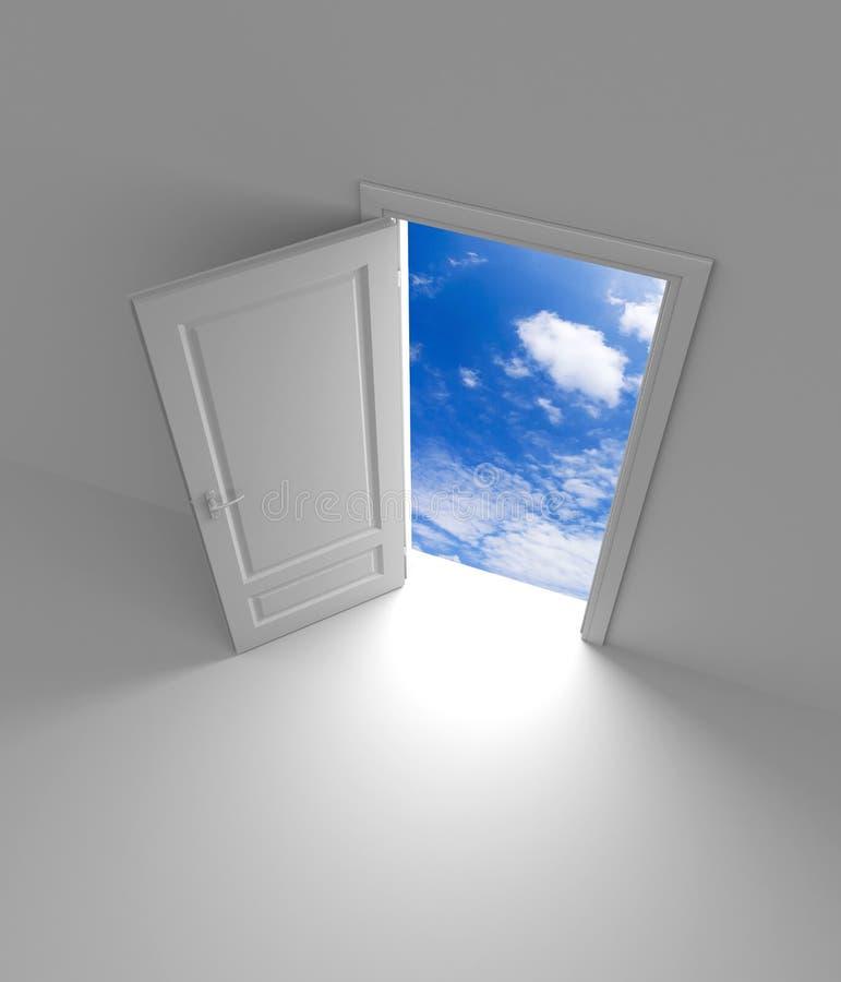 Puerta al cielo ilustración del vector
