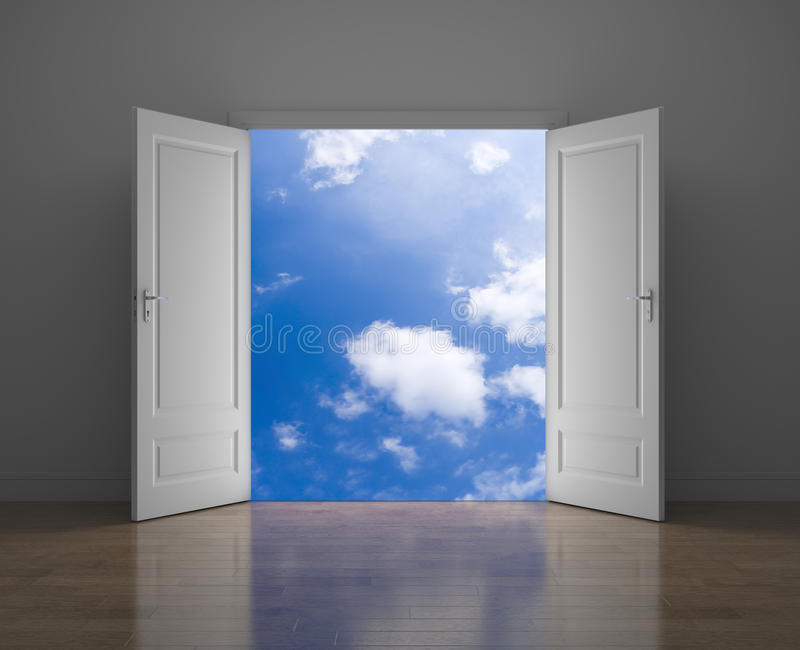 Puerta al cielo libre illustration