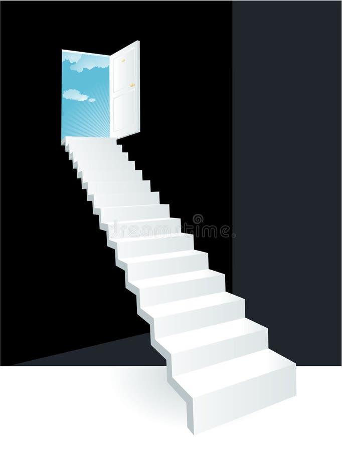 Puerta al cielo. Vector. ilustración del vector