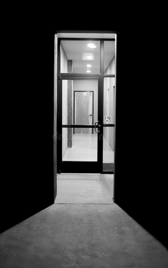 Puerta al desconocido foto de archivo