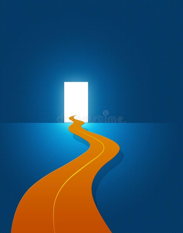 Puerta al futuro brillante stock de ilustración