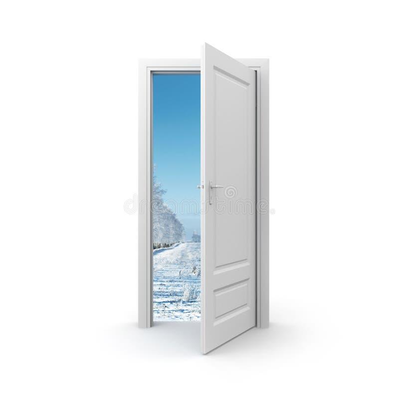 Puerta al invierno libre illustration