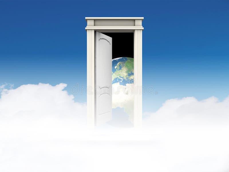 Puerta al mundo ilustración del vector
