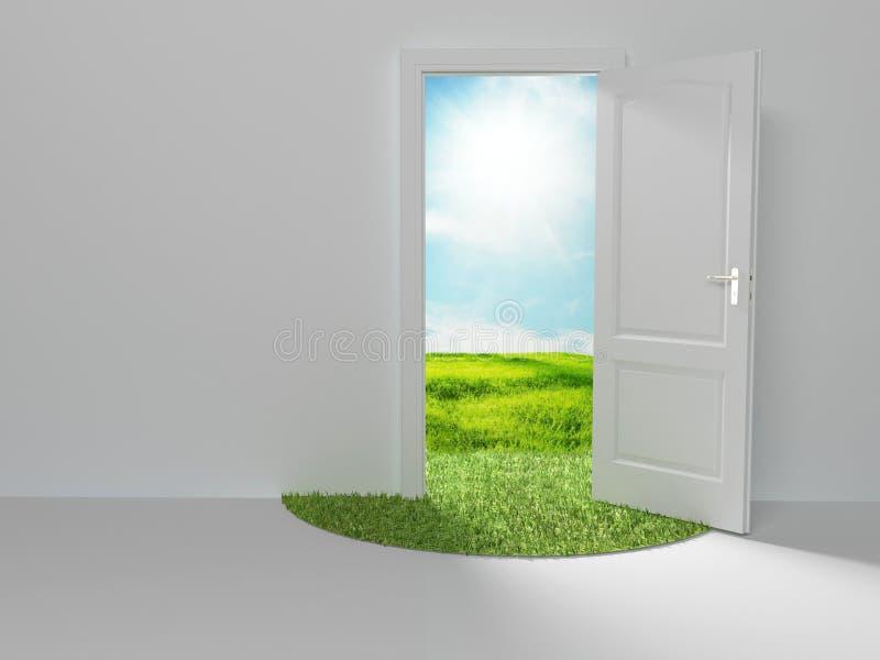 Puerta al nuevo mundo libre illustration