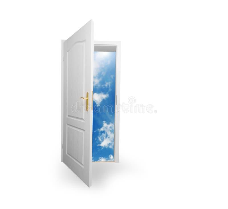 Puerta al nuevo mundo. Esperanza, éxito, nuevos conceptos de la manera fotografía de archivo