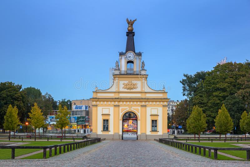 Puerta al palacio de Branicki en Bialystok, Polonia imagenes de archivo