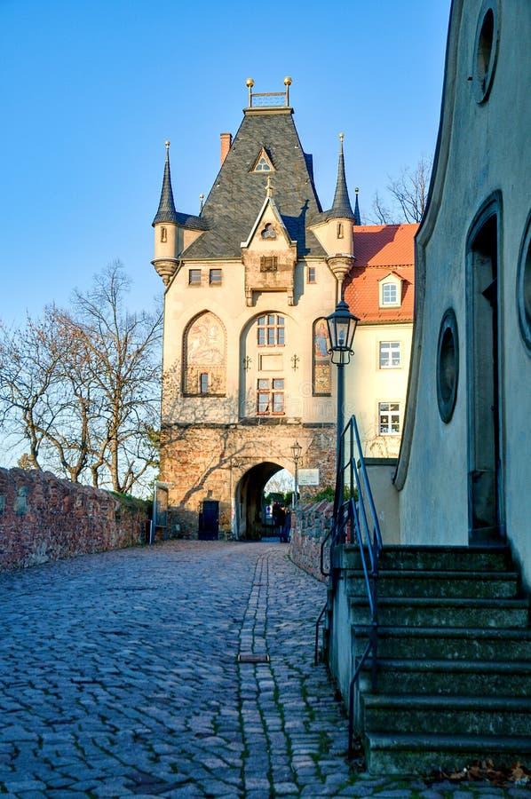 Puerta Albrechtsburg de la entrada en Meissen imágenes de archivo libres de regalías