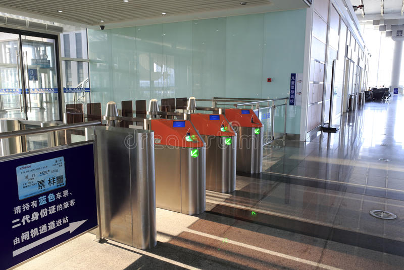 Puerta automática del boleto de la entrada fotografía de archivo libre de regalías
