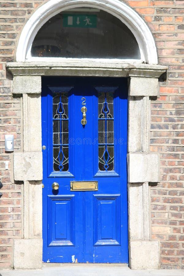 Puerta azul georgiana fotografía de archivo libre de regalías