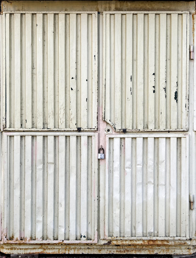 Puerta bloqueada del metal fotos de archivo