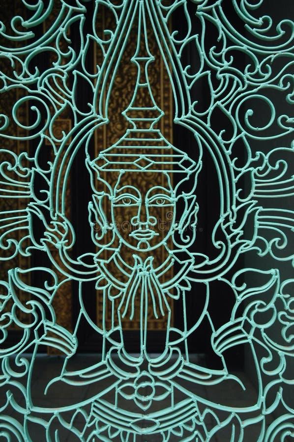 Puerta camboyana imagen de archivo