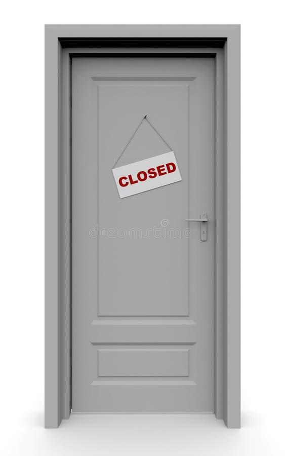 A puerta cerrada libre illustration