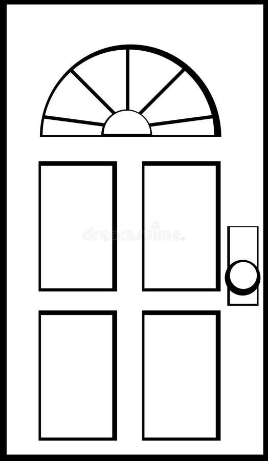 A puerta cerrada ilustración del vector