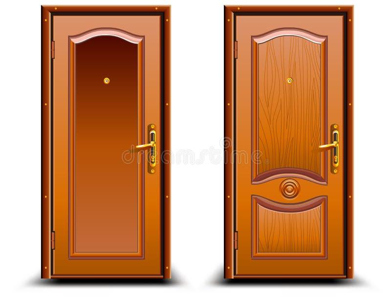 Puerta cerrada ilustración del vector