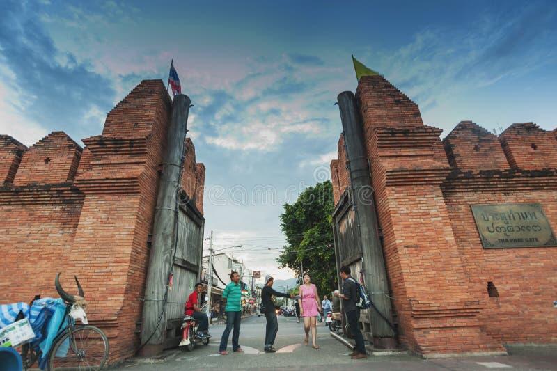 Puerta Chiang Mai de Tha-Phae foto de archivo libre de regalías