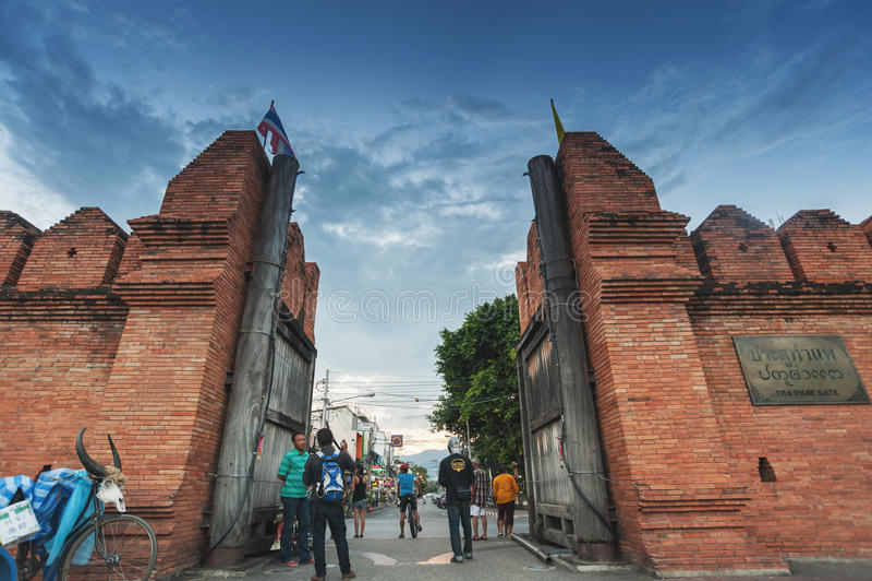Puerta Chiang Mai de Tha-Phae foto de archivo