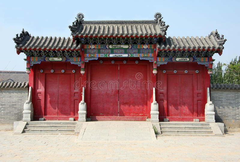 PUERTA CHINA DEL TEMPLO fotos de archivo