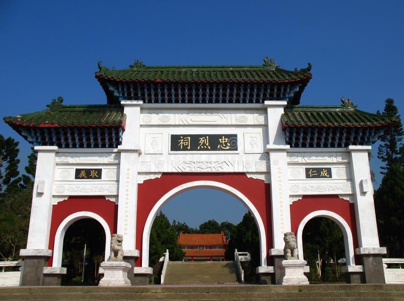 Puerta china del templo imágenes de archivo libres de regalías