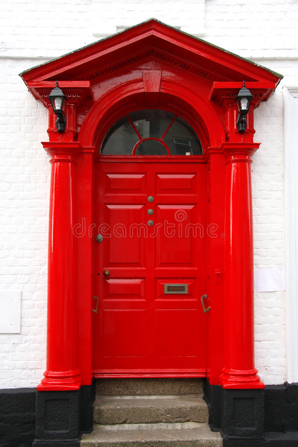 puerta clásica del victorian en Reino Unido imagen de archivo