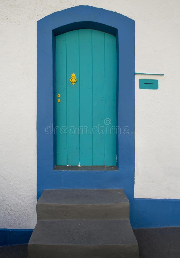Puerta colorida en Rio de Janeiro fotos de archivo libres de regalías