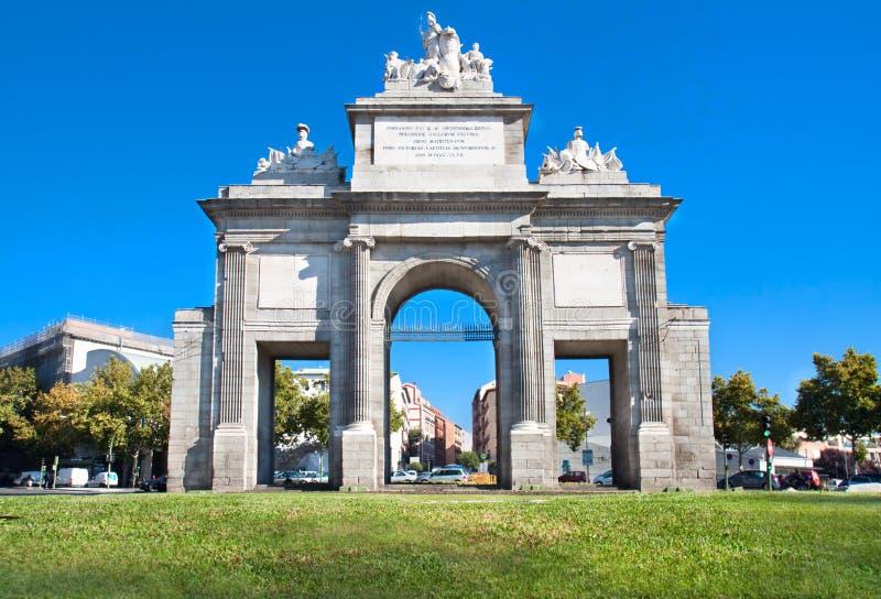 Puerta de托莱多,马德里,西班牙 免版税库存图片