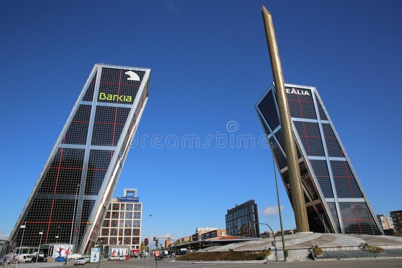 Puerta de Ευρώπη. Μαδρίτη στοκ φωτογραφία