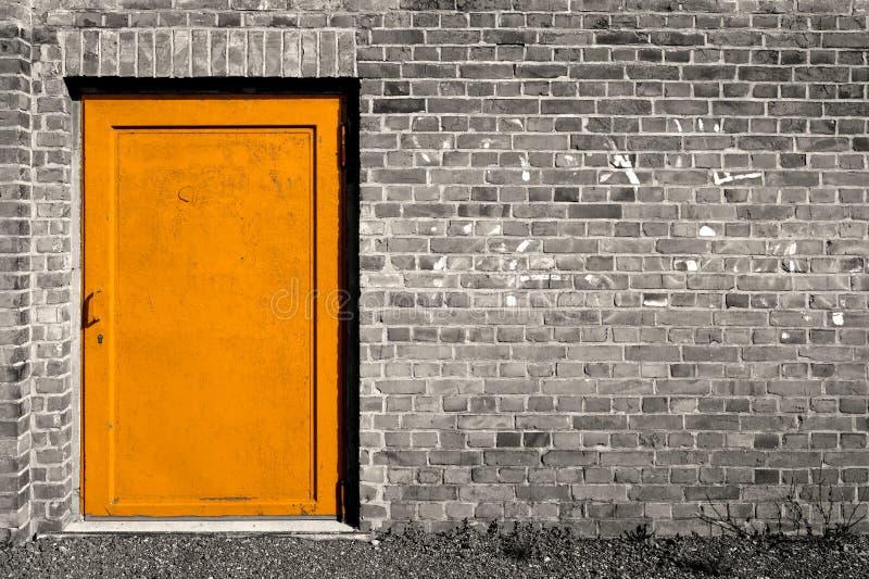 Puerta de acero imágenes de archivo libres de regalías