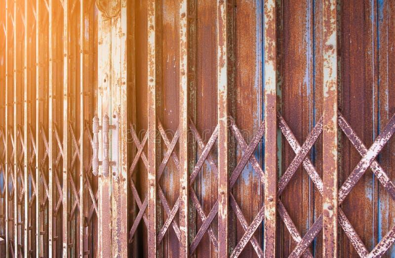 Puerta de acero fotografía de archivo libre de regalías