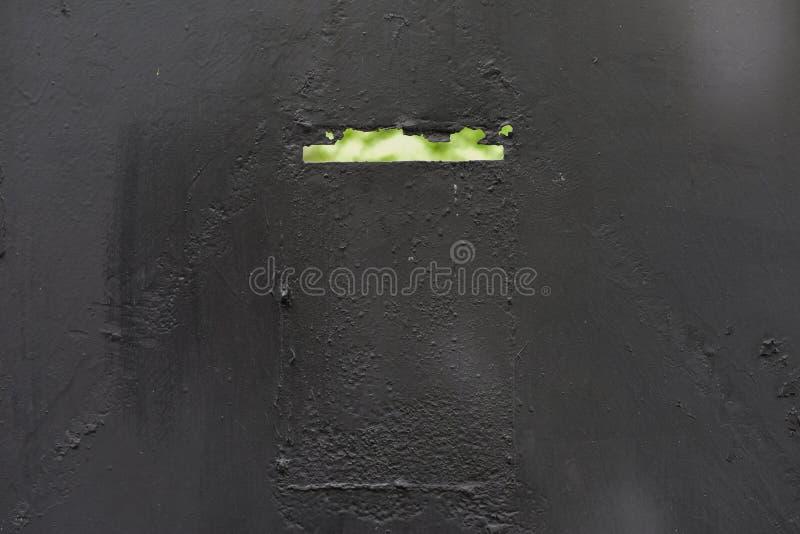 Puerta de acero gris fotografía de archivo libre de regalías