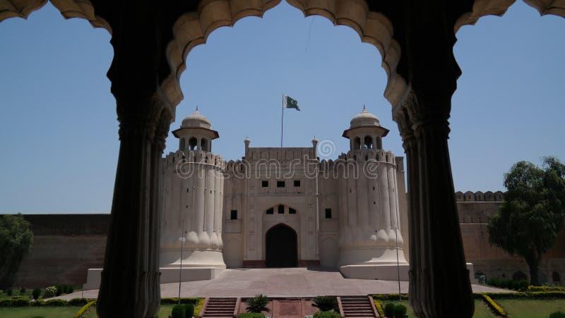Puerta de Alamgiri del fuerte de Lahore, Punjab, Paquistán fotografía de archivo libre de regalías