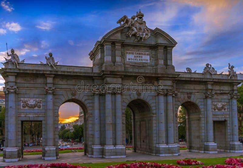 Puerta de Alcalá in Madrid royalty free stock photos