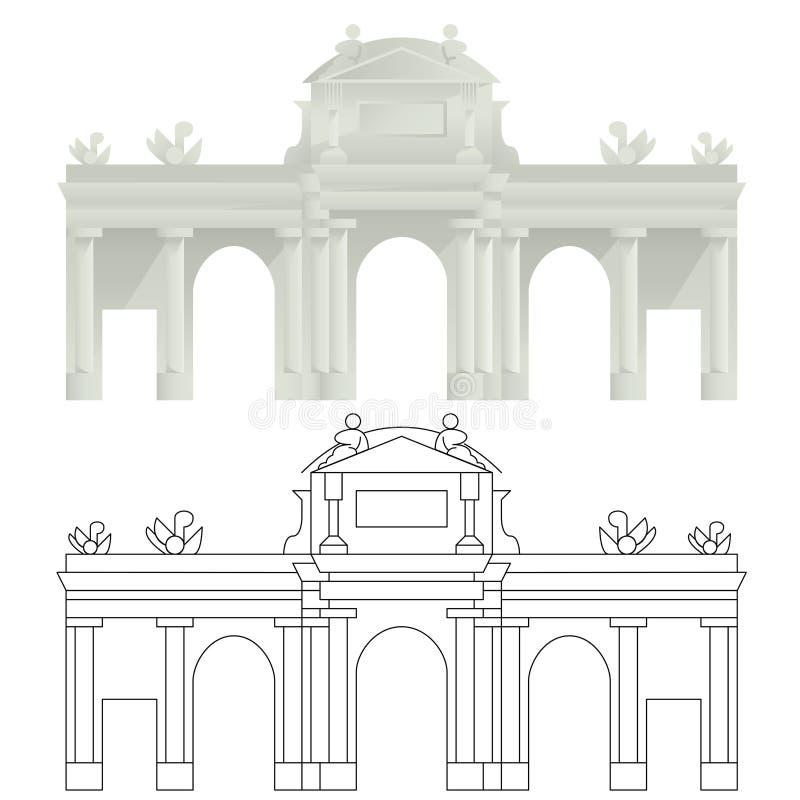 PUERTA DE ALCALÀ, Madri imagens de stock royalty free