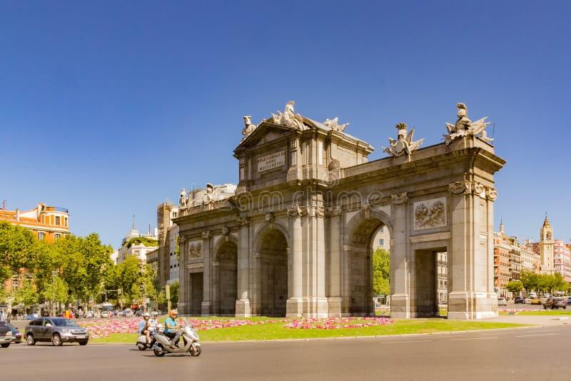 Puerta De Alcal fotografia stock