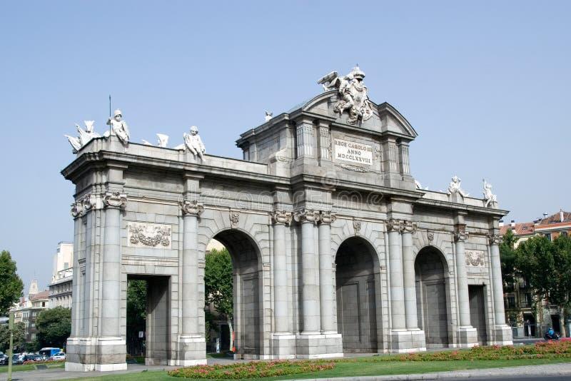 Download Puerta de Alcala stock image. Image of plaza, horizontal - 16061129