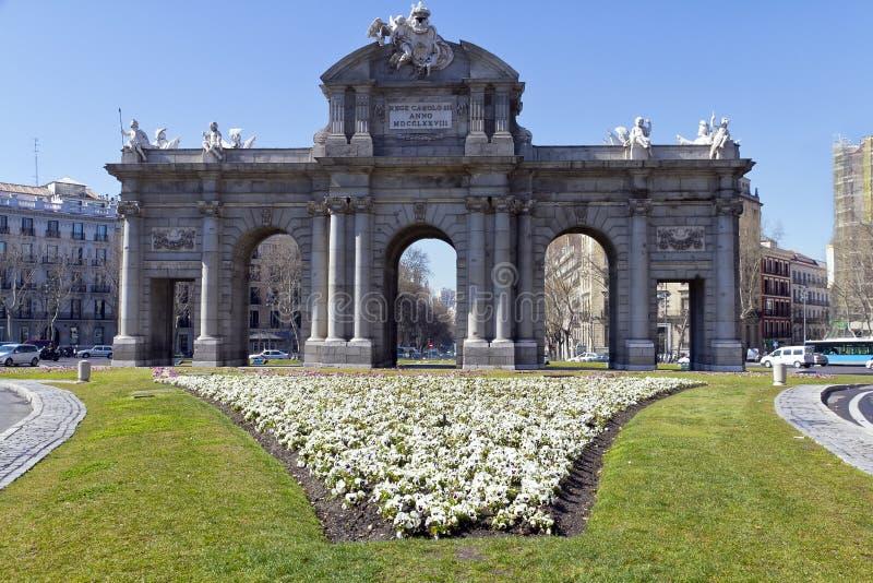 Puerta de Alcala. Alcala gate in Madrid stock images