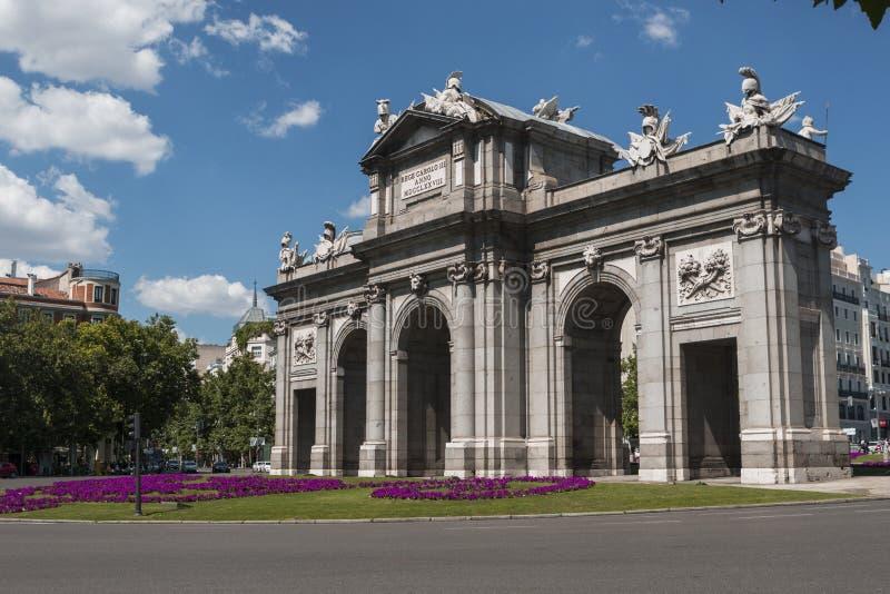 Puerta de Alcala Alcala Gate in Madrid, Spain royalty free stock image