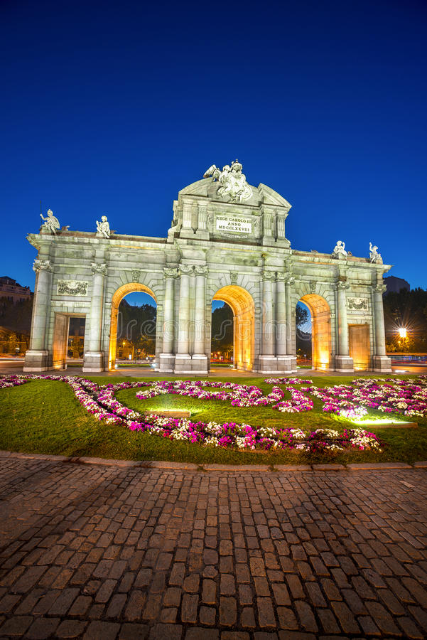 Puerta de Alcala, Madri, Espanha foto de stock